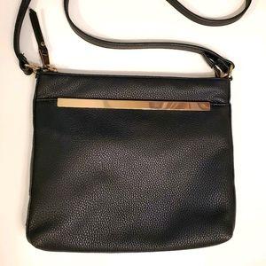 MIZTIQUE black vegan leather crossbody handbag